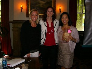 Adria Shelton and Victoria Miles with Jennifer Ross-Nazzal